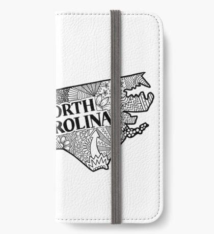 North Carolina State Gekritzel iPhone Flip-Case
