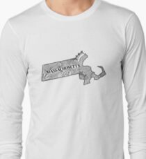 Massachusetts State Doodle Langarmshirt