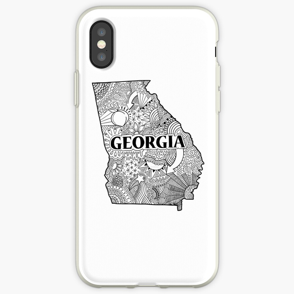 Georgia State Doodle iPhone-Hülle & Cover