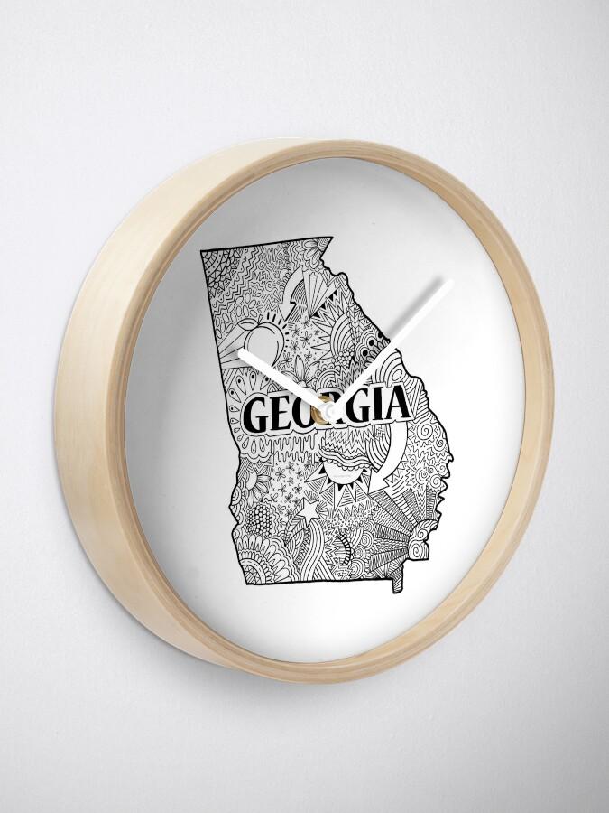 Alternative Ansicht von Georgia State Doodle Uhr