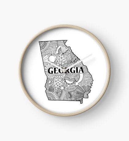 Georgia State Doodle Uhr