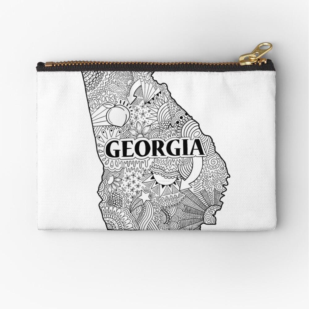 Georgia State Doodle Täschchen