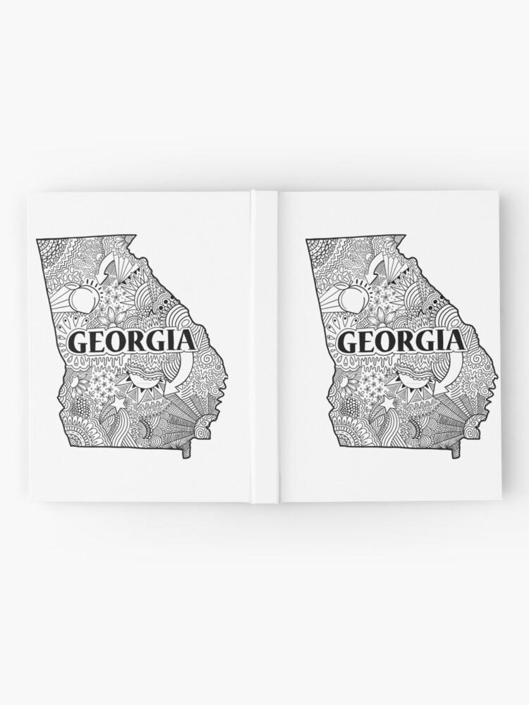 Alternative Ansicht von Georgia State Doodle Notizbuch