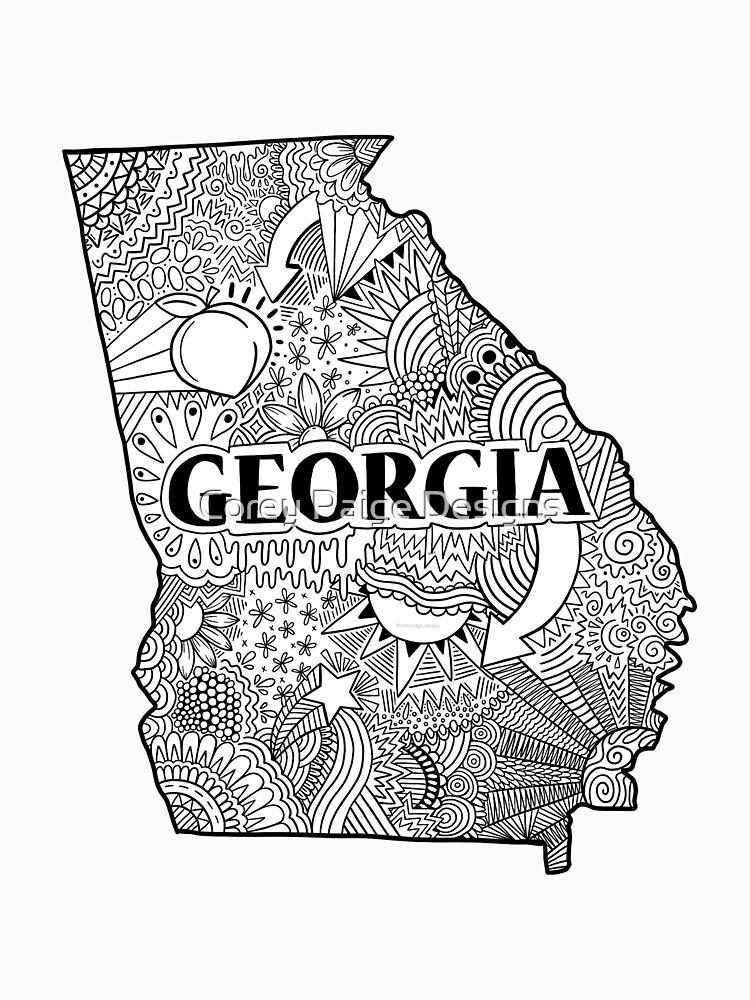 Georgia State Doodle von Corey-Paige