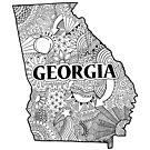Georgia State Doodle von Corey Paige Designs