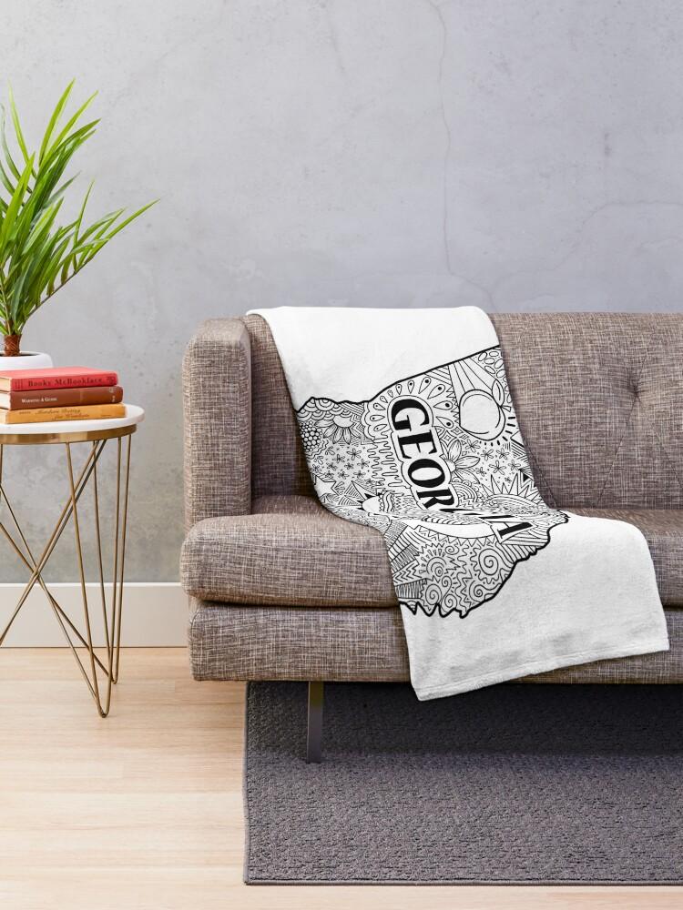 Alternative Ansicht von Georgia State Doodle Fleecedecke