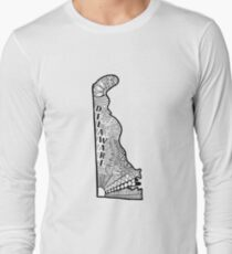 Delaware State Doodle Langarmshirt