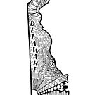 Delaware State Doodle von Corey Paige Designs