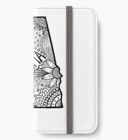 Alabama State Doodle iPhone Flip-Case