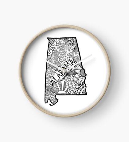 Alabama State Doodle Uhr