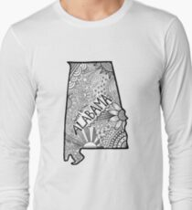 Alabama State Doodle Langarmshirt