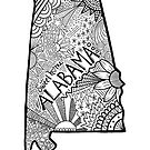 Alabama State Doodle von Corey Paige Designs