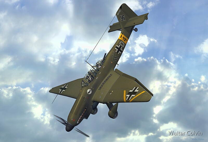 Quot Junkers Ju 87 Stuka Quot By Walter Colvin Redbubble
