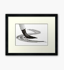 Sumi-e Brush 2 Framed Print