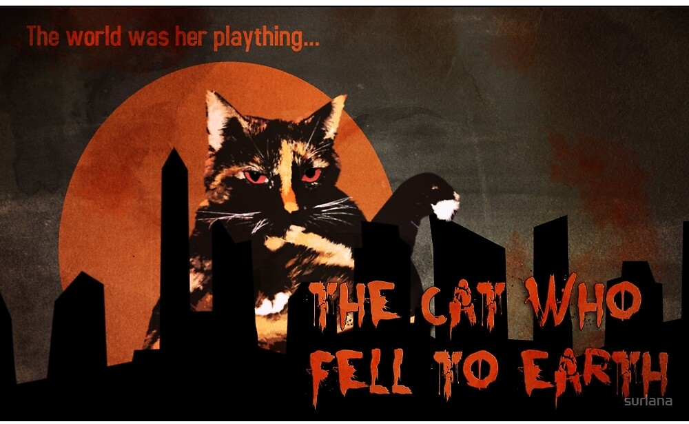 Cat Horror Poster by surlana
