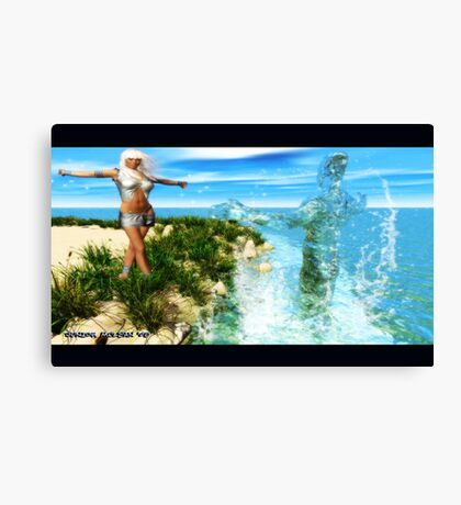 The Art of Waterbending Canvas Print