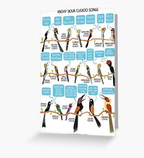 Know your cuckoo songs Greeting Card