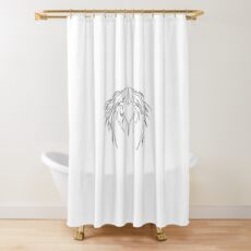 HeartWings Shower Curtain