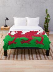 Waliser-Flagge - Wales-roter Drache Fleecedecke