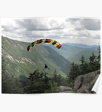 Flying high over Crawford Notch Poster