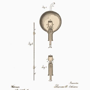 Edison's Light bulb by DesignBakery