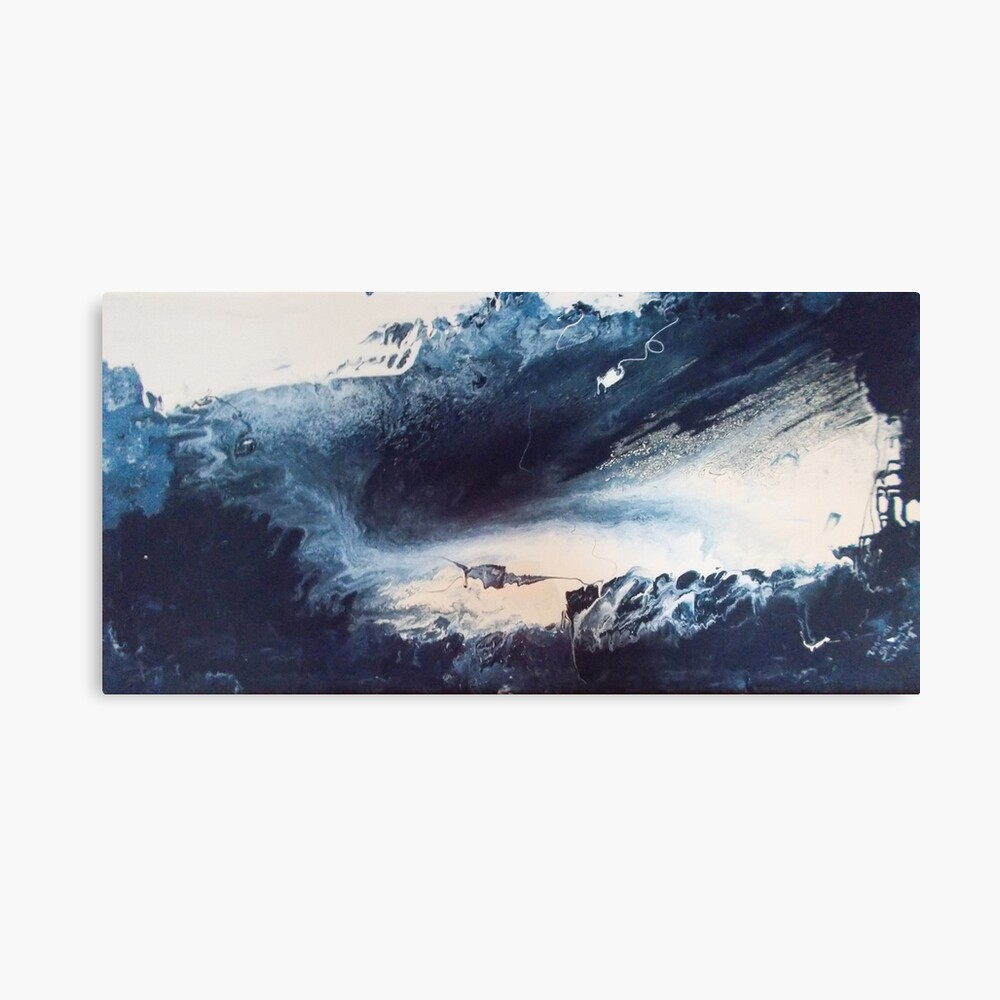 Blue Vision Abstract Canvas Print