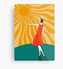 Die Frau, die in der Sonne tanzt Metallbild