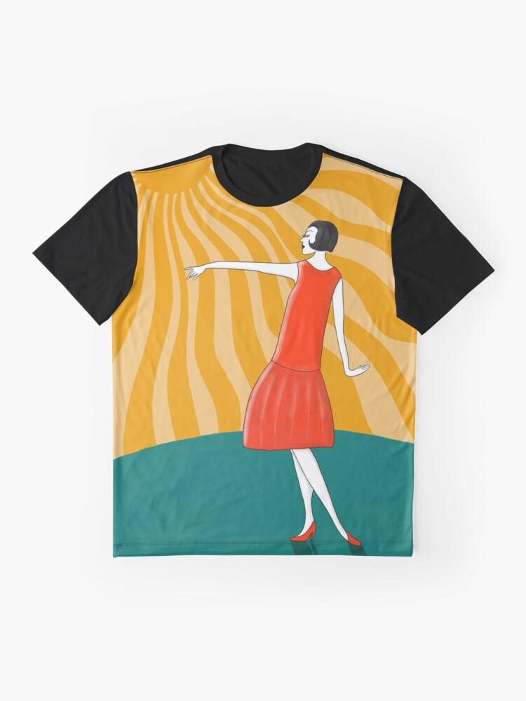 Alternative Ansicht von Die Frau, die in der Sonne tanzt Grafik T-Shirt