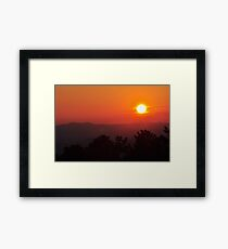 sunset from the mountain Framed Print