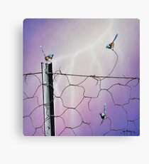 Defying Electrifying Canvas Print