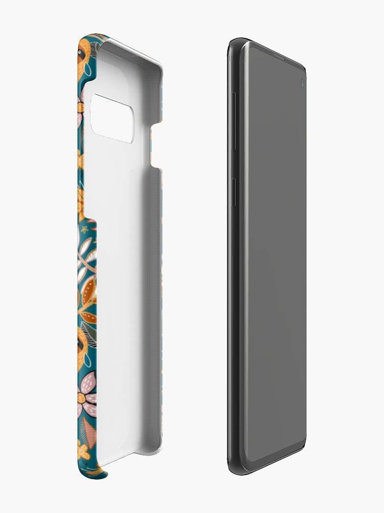 Alternate view of Happy Boho Sloth Floral  Case & Skin for Samsung Galaxy