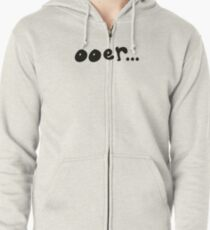A homage to Rik Mayall (Black) Zipped Hoodie