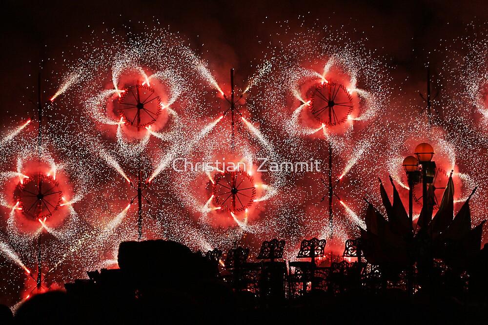 Fireworks at Siggiewi by Christian  Zammit