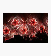 Fireworks at Siggiewi Photographic Print