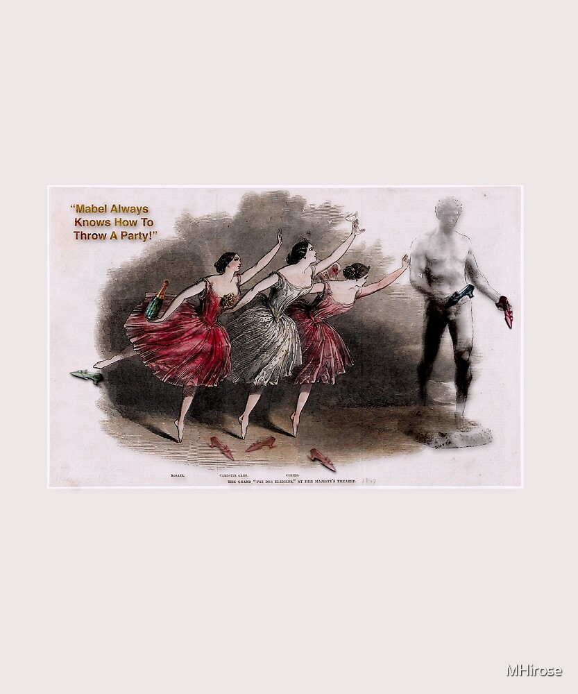 Party Ballerina Style - Weekends Ballerina Style - Ballet Dancers Throw A Party - Beautiful Art Print by MHirose