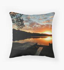 Sunset @ Narrabeen Lakes Throw Pillow