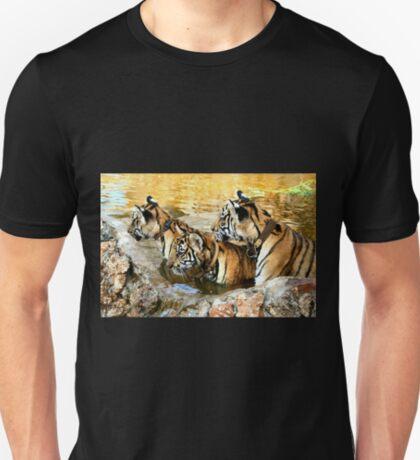 Trio of Tiger Cubs, Kanchanaburi, Thailand  T-Shirt