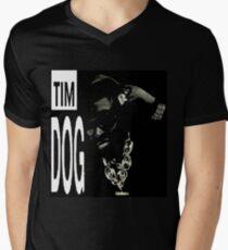 Camiseta de cuello en V El perro original