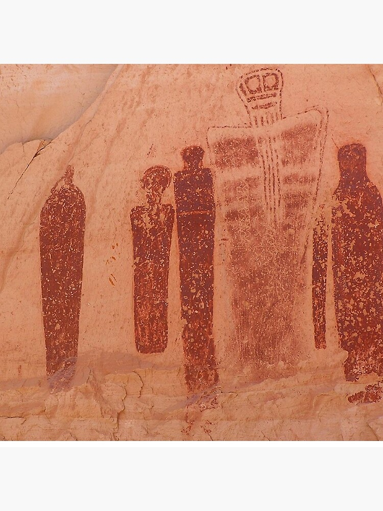 Holy Ghost panel in the Great Gallery, Horseshoe Canyon, prehistoric astronaut visitor?  by TOMSREDBUBBLE