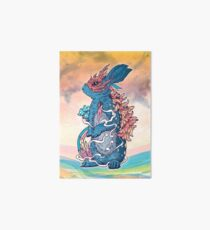 Lucky Rabbit Art Board Print