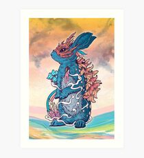 Lucky Rabbit Art Print
