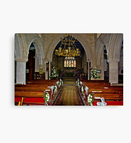 Slingsby Church Interior Canvas Print