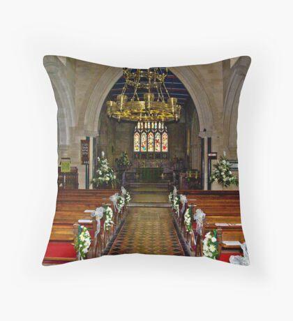 Slingsby Church Interior Throw Pillow
