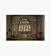Slingsby Church Window Art Print