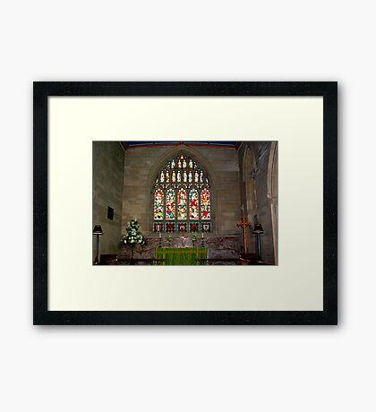 Slingsby Church Window Framed Print