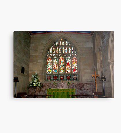 Slingsby Church Window Metal Print