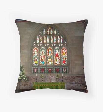 Slingsby Church Window Throw Pillow