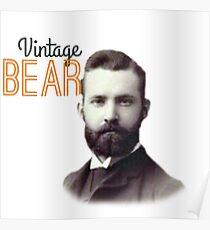 Vintage Bear Poster