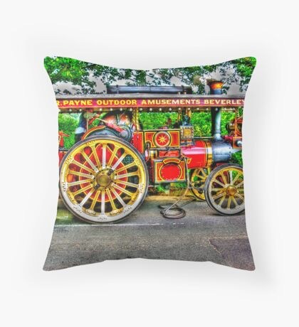 Steam Traction Engine #1 HDR Throw Pillow