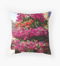 Floral Decoration, Blandford Forum, Dorset Throw Pillow